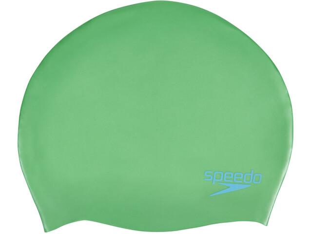 speedo Plain Moulded Silicone Cap Barn fake green/windsor